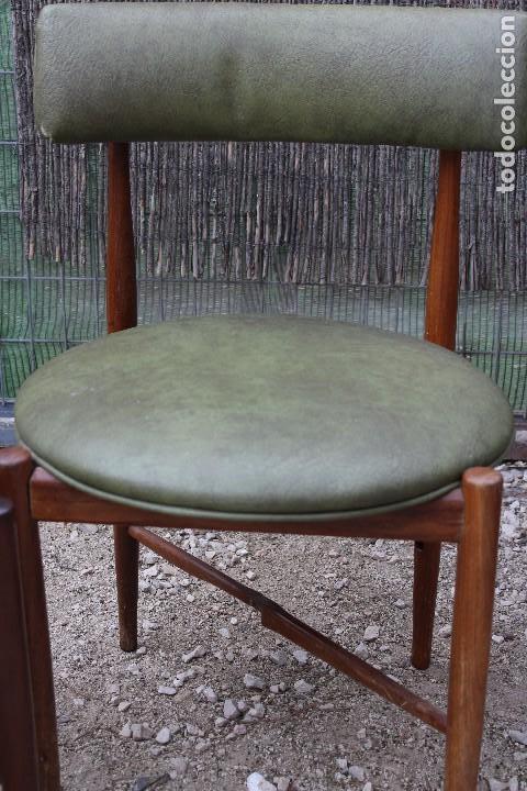 cuatro sillas de madera g plan madera de teca y - Comprar Muebles ...