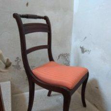 Vintage: LOTE DE 5 SILLAS DE HAYA ESTILO INGLES. VER DESCRIPCIÓN.. Lote 113172695