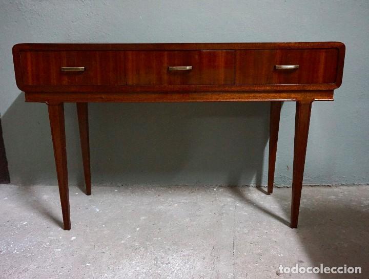 mueble aparador tocador escritorio nórdico consola años 50 vintage bambi madera 1950, usado segunda mano