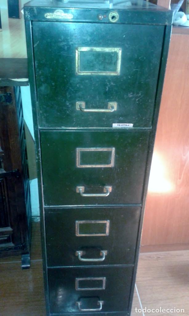ARCHIVADOR METALICO 4 CAJONES RONEO (Vintage - Muebles)