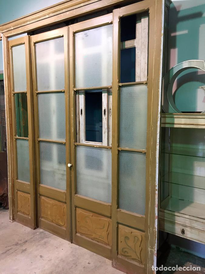 Antiguas puertas de alcoba cristalera con motiv comprar for Puertas correderas antiguas
