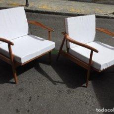 Vintage: PAREJA DE SILLONES 1960 , . Lote 114938795