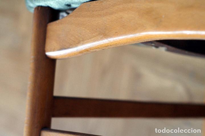 Vintage: Silla estilo escandinavo verde madera años 60 vintage - Foto 3 - 115376359