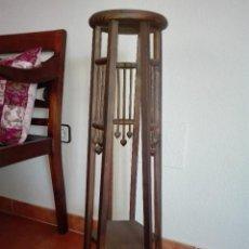 Vintage: PEDESTAL DE MADERA. Lote 115498747
