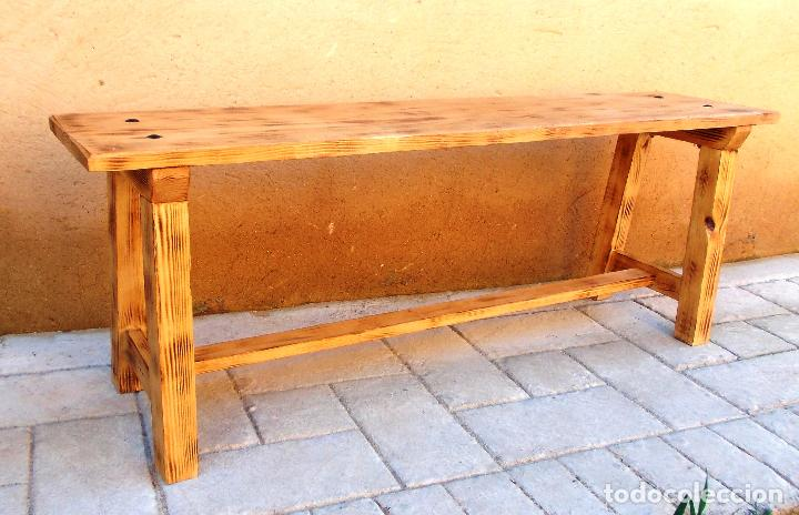 banco de madera rustico mueble , mide 135 cm de - Comprar Muebles ...