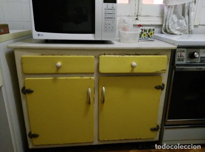 Mueble bajo de cocina vintage comprar muebles vintage en for Muebles de cocina vintage