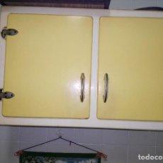 Vintage: DOS MUEBLES ALTOS DE COCINA, VINTAGE. Lote 117895151