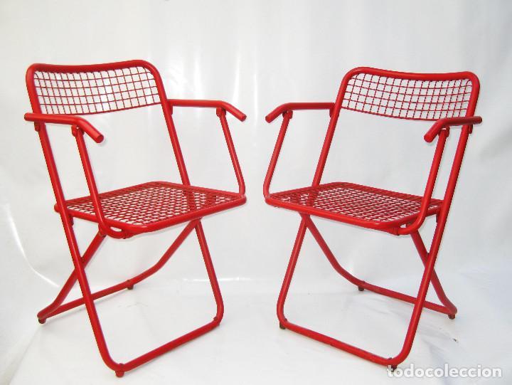 6 sillas plegables vintage rojo pop jardin fede comprar - Sillas plegables jardin ...