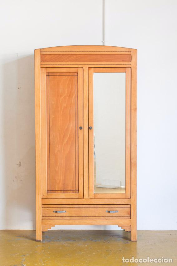 armario ropero con cajón y espejo - francia, añ - Comprar Muebles ...