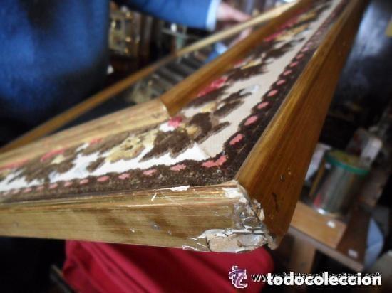 Vintage: ESPEJO CON MARCO DE MADERA ENTELADO Y PAN DE ORO VINTAGE - Foto 7 - 118398027