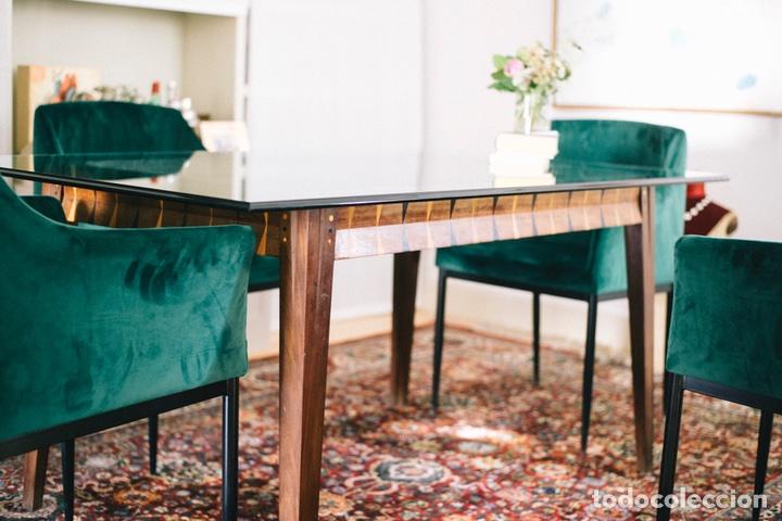 Mesa comedor maderas exóticas - pieza única y original diseño madera maciza  (17 años)-Sin vidrio