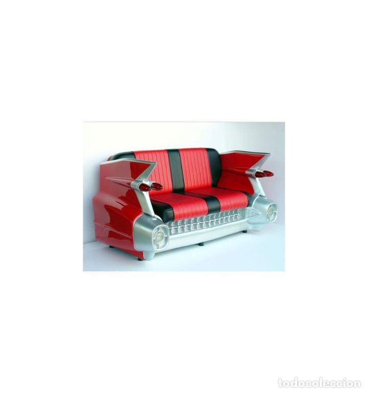 1959 sofa piel rojo retro vintage cadillac tama comprar - Sofa piel vintage ...