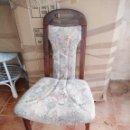 Vintage: LOTE DE 3 SILLAS ANTIGUAS MADERA DE ROBLE TAPIZADO FLORAL ,AÑOS 80. Lote 118834823