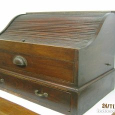 Vintage: ANTIGUO BELLO MUEBLE SECRETER BUREAU CON PERSIANA - CON SECRETOS - ESCRITORIO INDUSTRIAL C.1940. Lote 119231591