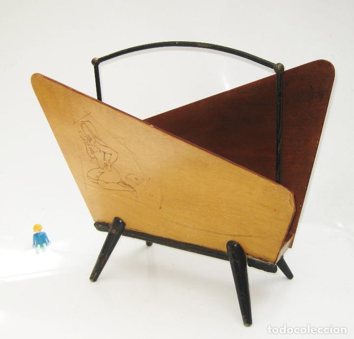 REVISTERO VINTAGE MIDCENTURY PATAS BAMBI ESTILO DISEÑO NORDICO (Vintage - Muebles)
