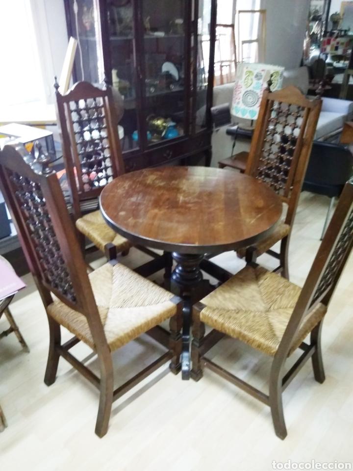 mesa comedor redonda /sillas - Kaufen Vintage-Möbel in todocoleccion ...