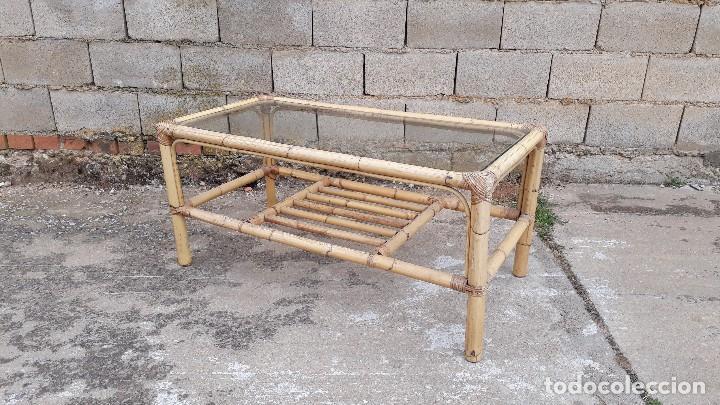 mesa de centro de salón de caña o bambú 1960 me - Comprar Muebles ...