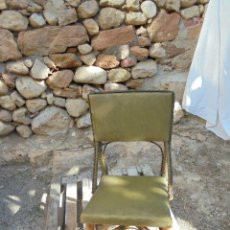 Vintage: ORIGINAL SILLA RETRO DE MADERA CAÑA Y RATÁN - TAPIZADA. Lote 123804011