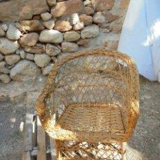 Vintage: SILLA VINTAGE DE MIMBRE Y CAÑA. Lote 123807839