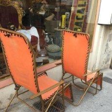 Vintage: LOTE DE 2 SILLONES - TUMBONA, ABATIBLES , TAMAÑO ADULTO - LAFUMA CHANTAZUR, FRANCE - RETRO VINTAGE. . Lote 126749007