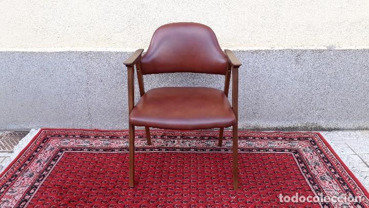 Vintage: Silla antigua de escritorio, estilo danés nórdico escandinavo, sillón antiguo retro vintage - Foto 2 - 127254351