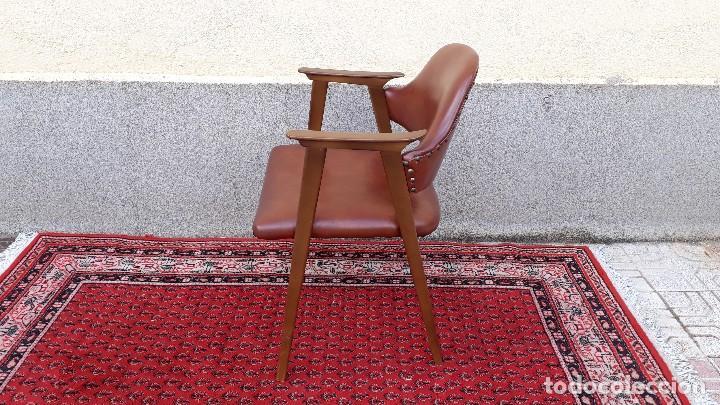 Vintage: Silla antigua de escritorio, estilo danés nórdico escandinavo, sillón antiguo retro vintage - Foto 3 - 127254351