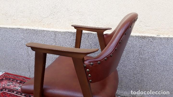 Vintage: Silla antigua de escritorio, estilo danés nórdico escandinavo, sillón antiguo retro vintage - Foto 4 - 127254351