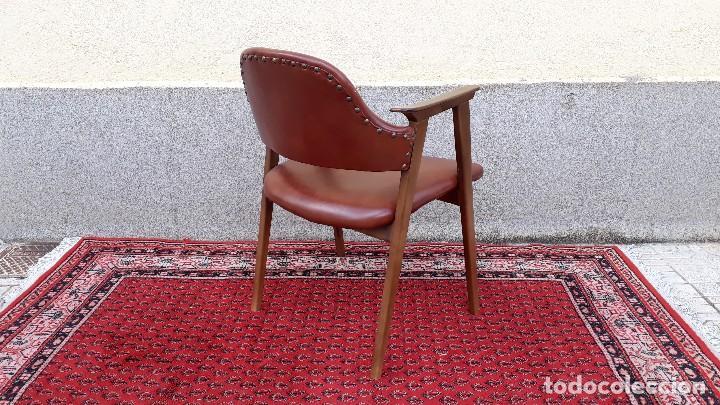 Vintage: Silla antigua de escritorio, estilo danés nórdico escandinavo, sillón antiguo retro vintage - Foto 5 - 127254351