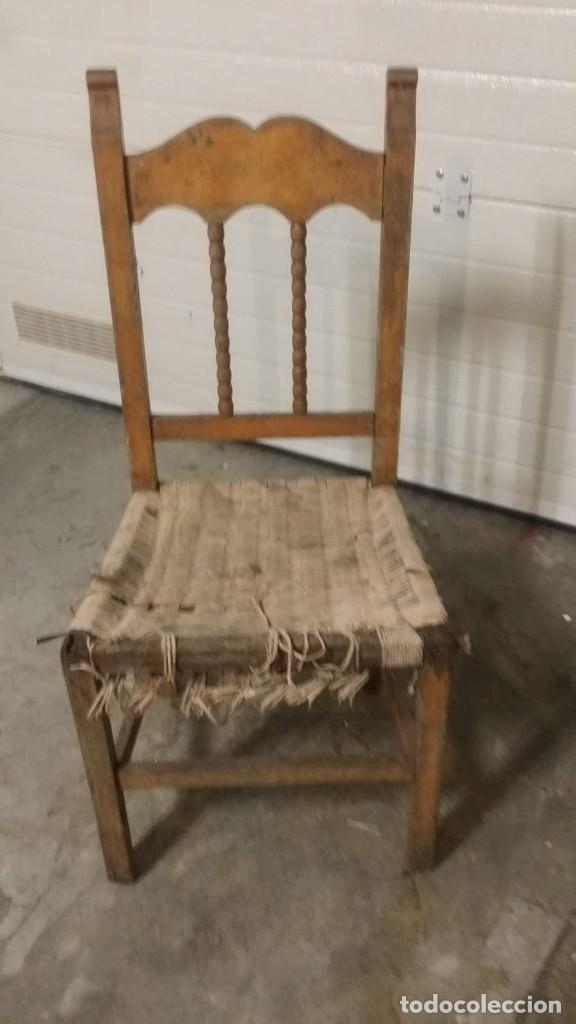 Vintage: silla enea y madera - Foto 2 - 128792611