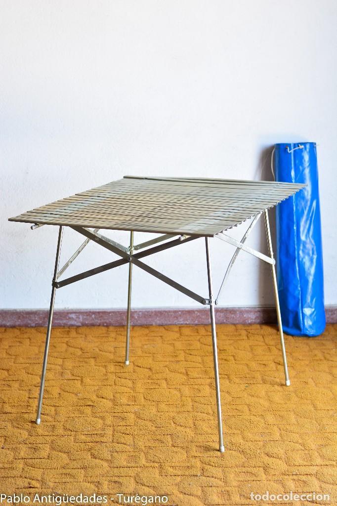 Mesa De Con Funda CampingSupervivenciaChapa VintageMontaña Campo 60 Plegable Años dCxeBo