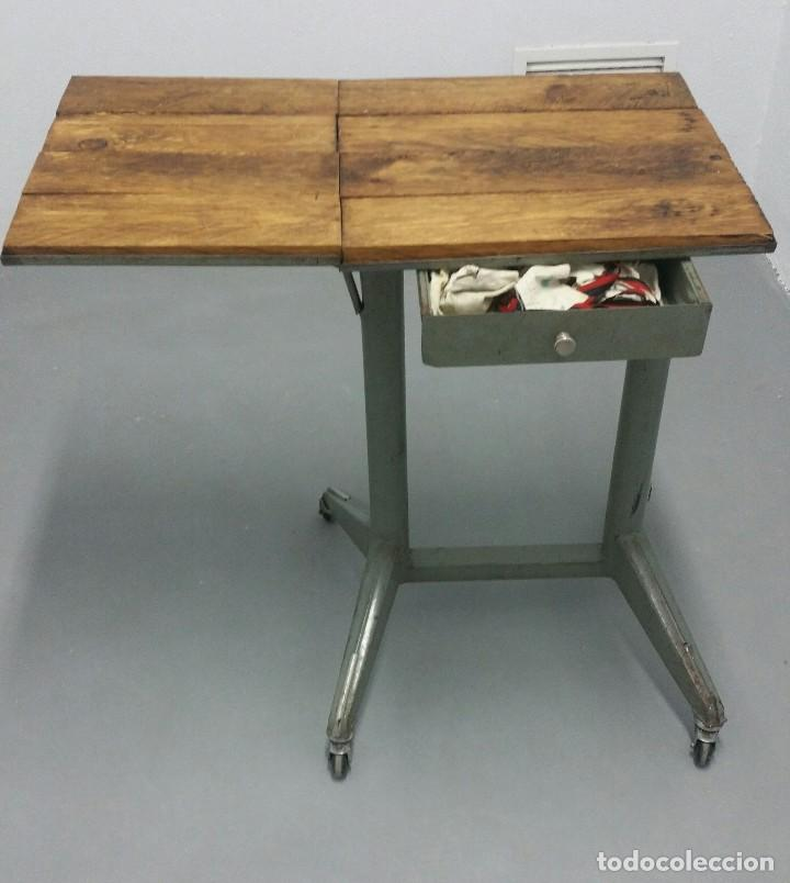 mesa auxiliar de hierro oficina - Comprar Muebles vintage en ...
