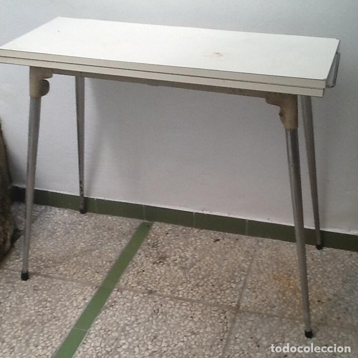 Mesa de cocina extensible comprar muebles vintage en todocoleccion 131143756 - Mesa cocina vintage ...