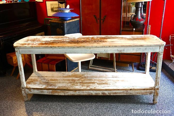 mesa antigua madera shabby chic vintage cocina - Kaufen Vintage ...