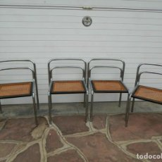Vintage: CUATRO SILLAS DE DISEÑO ESTILO CESCA. Lote 131853206