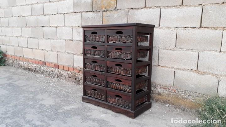 mueble auxiliar antiguo, cajonera cestera, mueb - Kaufen Vintage ...