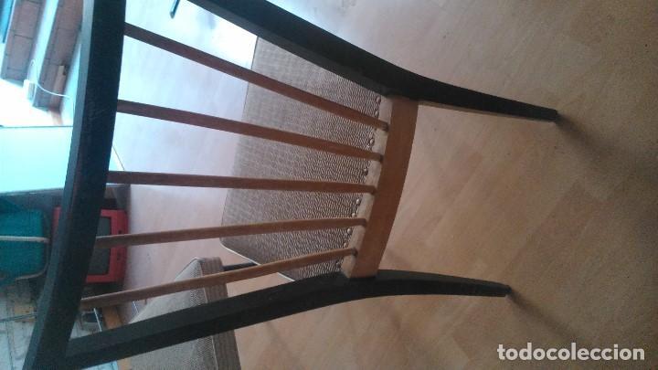 Vintage: Conjunto de cuatro sillas de los años sesenta en muy buen estado por sólo ciento sesenta euros. - Foto 3 - 132336330