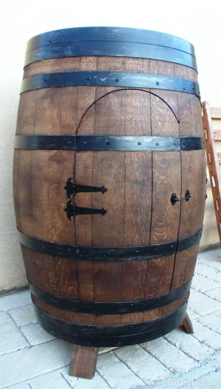 Botellero barrica de vino mueble en madera rob vendido - Botellero de madera para vino ...