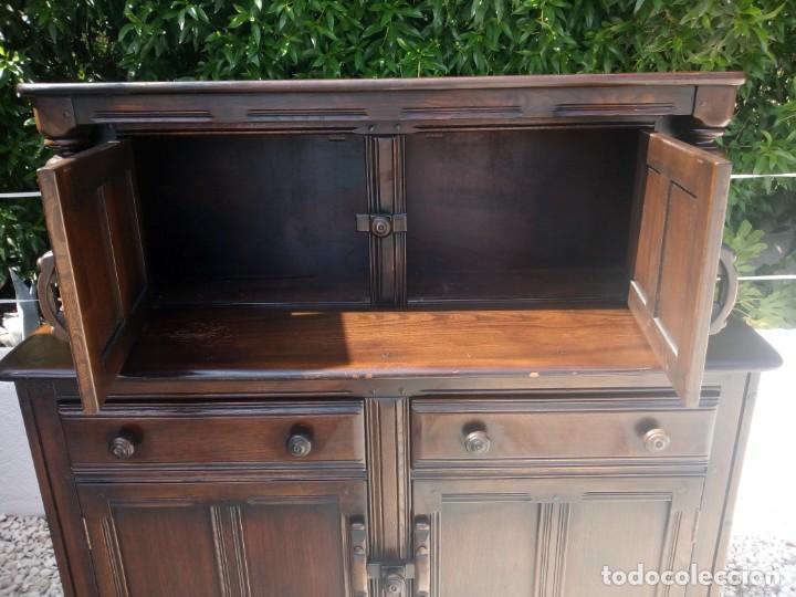 Vintage: antiguo mueble aparador de salón ercol made in england,años 50/60 - Foto 5 - 133342310