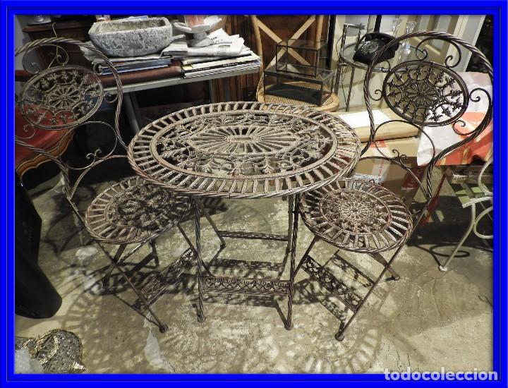 juego de terraza o jardin con mesa ovalada y do - Kaufen Vintage ...