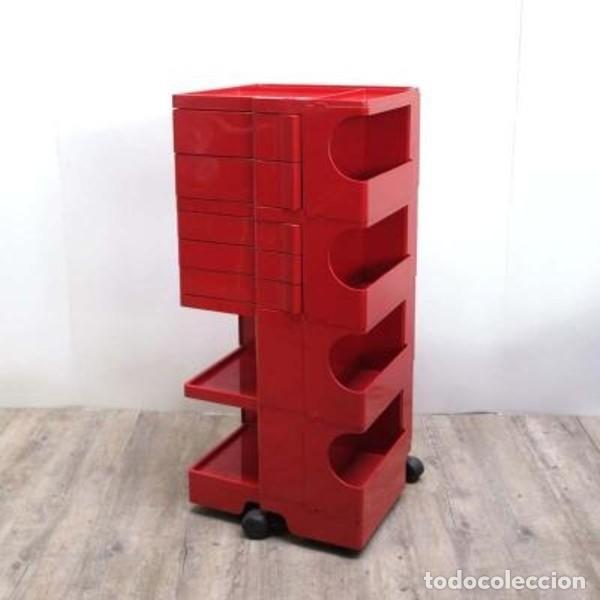 Vintage: Carrito taburete Boby . Diseñado y firmado por: JOE COLOMBO. 1970 - 1975. (BRD) - Foto 3 - 135524570