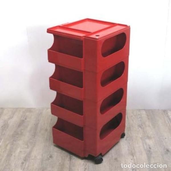 Vintage: Carrito taburete Boby . Diseñado y firmado por: JOE COLOMBO. 1970 - 1975. - Foto 5 - 135524642