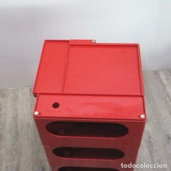 Vintage: Carrito taburete Boby . Diseñado y firmado por: JOE COLOMBO. 1970 - 1975. - Foto 6 - 135524642