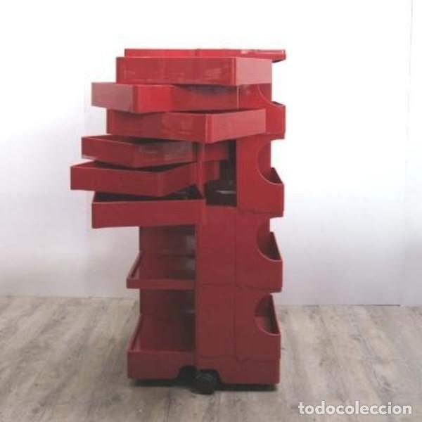 Vintage: Carrito taburete Boby . Diseñado y firmado por: JOE COLOMBO. 1970 - 1975. - Foto 12 - 135524642