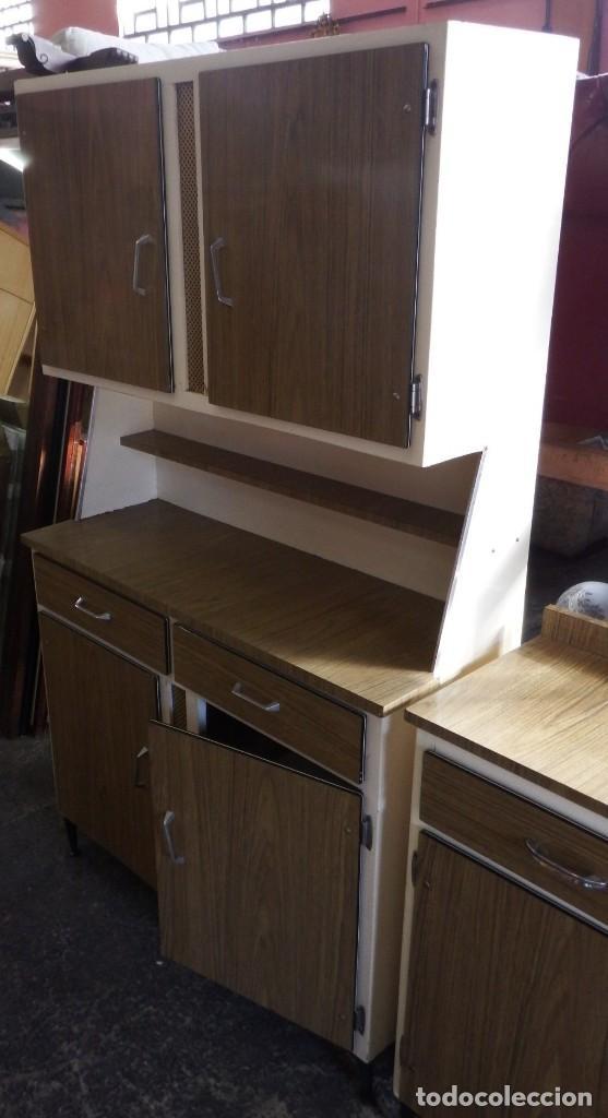 alacena y mueble bajo de cocina. años 60. - Comprar Muebles vintage ...