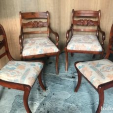 Vintage: CONJUNTO DE 2 SILLONES Y 2 SILLAS MADERA TALLADA ESTILO PROVENZAL. Lote 138670234