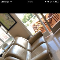 Vintage: SOFA BIPLAZA PIEL RECLINABLE CHATEUX D'AX. Lote 140697865