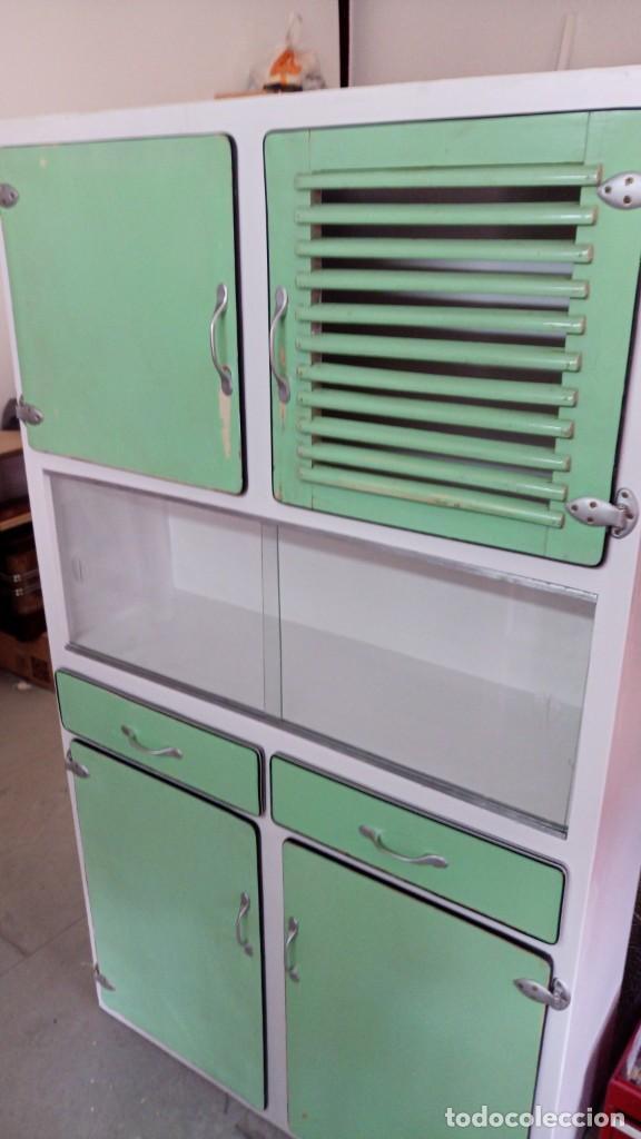 Alacena mueble de cocina fresquera con vitrin comprar - Muebles de cocina retro ...