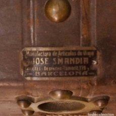 Vintage: BAUL DE PIEL:JOSE SMANDIA,BARCELONA. Lote 140988640