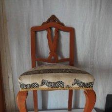 Vintage: SILLA BAJA DE MADERA. Lote 141338842