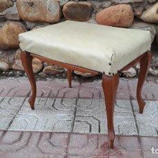 Vintage: TABURETE ANTIGUO, BANQUETA DESCALZADORA ANTIGUA, SILLA DESCALZADORA ANTIGUA VINTAGE. Lote 141681170